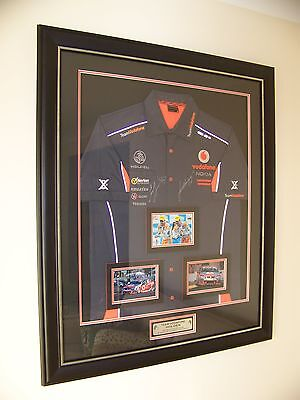 V8 Supercars Team Vodafone 888 Racing - Lowndes and Whincup signed framed shirt