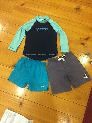 Mixed Boys Rash Vest And Board Shorts. Size 4/5. Speedo Seed GUC