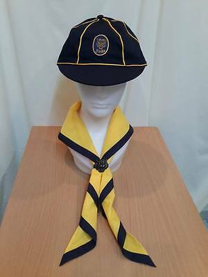 SET 3 BOY SCOUT Thailand HAT Campaign Badge Neckerchief scarf Slide YELLOW WOLF