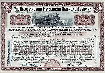 4% The Cleveland and Pittsburgh Railroad Company 1968 (100 Shares special stock)