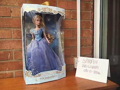 """Disney Store 17"""" Limited Edition Live Action Cinderella Doll"""