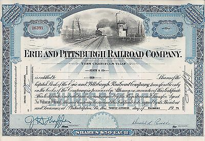 Erie and Pittsburgh Railroad Company, Pennsylvania, 1971 (10 Shares)