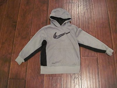 NIKE Therma-Fit child's sweatshirt/hoodie - youth small - grey & black - EUC