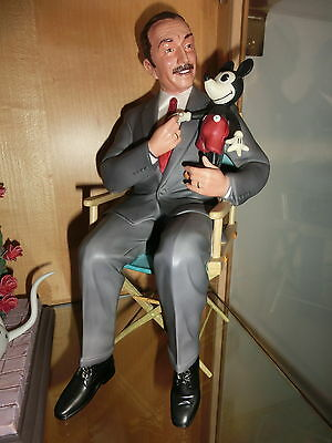 Disney WDCC Porzellanfigur Walt & Mickey it was all Started with a mouse