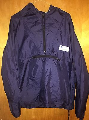 Authentic Mickey Mouse Inc Hooded Pullover Windbreaker Track Jacket Lightweight
