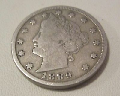 1889 USA 5 cents coin (copper  nickel)