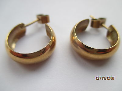 9CT SOLID GOLD MARKED EARINGS    1950 ABOUT  ref 213