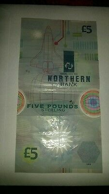 Northern  Bank  £5  Note  Polymer, 1999, Mm , Uncirculated