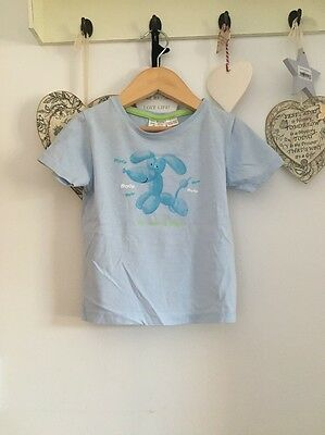 Boys Pale Blue Short Sleeved T Shirt From Zara Age 18-24 Months Be My Friend