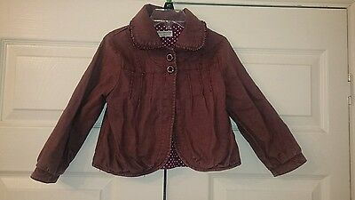 Girls mini mode (boots)  purple light weight summer jacket coat 2-3 years