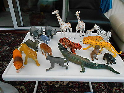 Collection Of Large Plastic Wild Animals