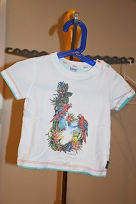 Baker By Ted Baker 9-12 Mth Baby Boy T-Shirt With Print On The Front