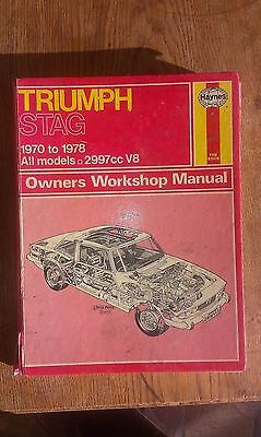 Triumph Stag Haynes owners workshop manual 1970 to 1978
