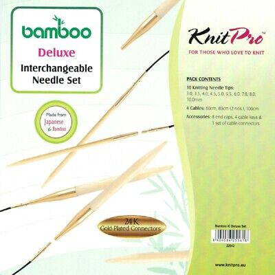AUD KnitPro interchangeable Circular Needle Set Bamboo DELUXE