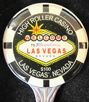 Look ~~ New 'las Vegas' --Casino Chip Spoon - Playing Cards