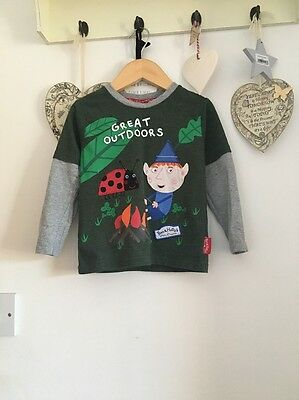 Boys Long Sleeved Top Ben And Holly Ben Elf Age 18-24 Months