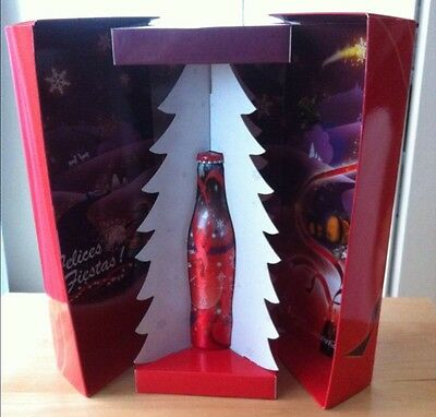 Coca Cola alu aluminum bottle botella flasche bouteille Christmas Spain with box
