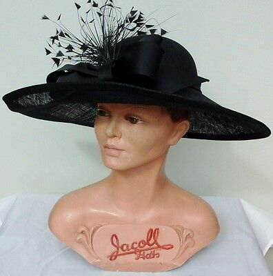 Ladies Whiteley/Maddox Black Headpiece/Hat Wedding/Races/Mother of the Bride.