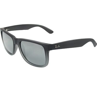 Ray-Ban Justin RB4165 852/88 Grey / Silver Gradient Mirror 55mm Lens Sunglasses