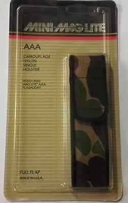 Mini maglite Camo Nylon single belt holster for 2 AAA cell torch 108-000-075 UC
