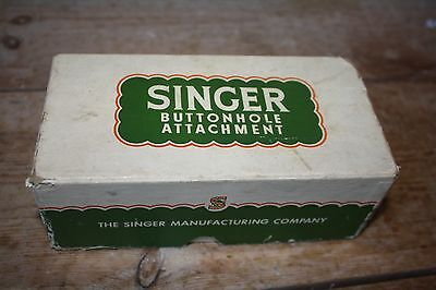 Button attachment for a vintage singer sewing machine, boxed