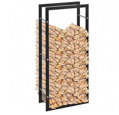 Fireside Log Storage Wood Firewood Storing Rack Fireplace Tall Stand Solid Home