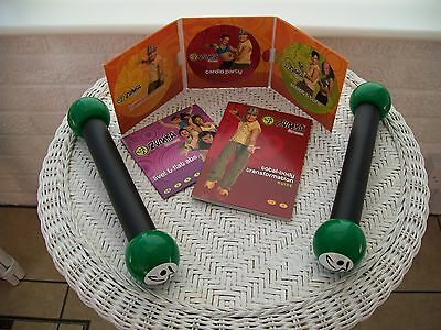 Zumba Fitness Workout Exercise DVD With 4 DVDs and 2 Toning Sticks