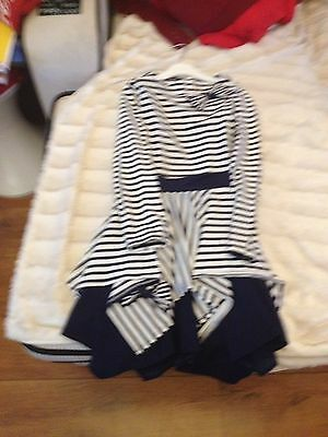 Girls Designer Kate Mack Two Piece Set Dress And Leggings Size 10