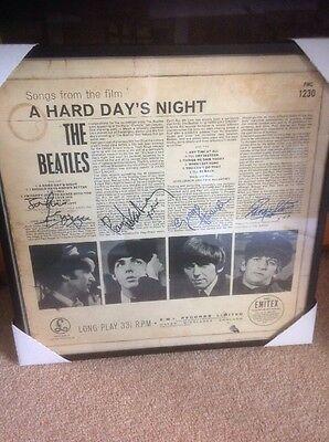 The Beatles 'A Hard Days Night' Mono LP 1963 Framed with autographs