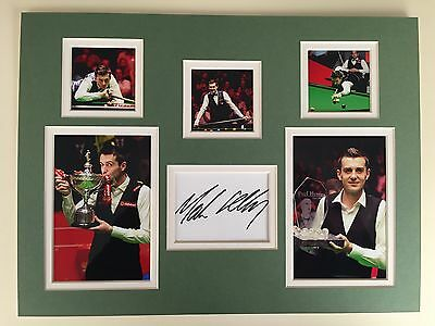 """Snooker Mark Selby Signed 16""""x12"""" Double Mounted Display"""