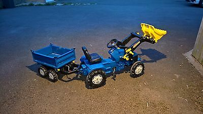 rolly toys New Holland Tractor TS5050 and Mega Trailer