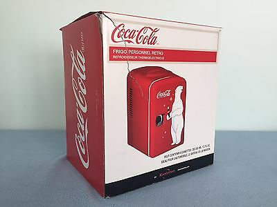 Mini Coca-Cola Fridge Coca-Cola Bear Red Mini Fridge Office Dorm Fridge USED