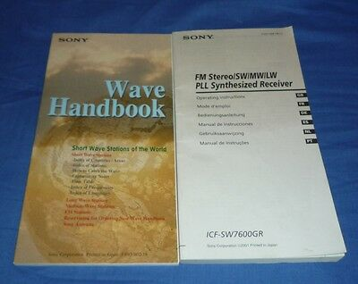 Sony Wave Handbook Short Wave Stations Of World & Icf-Sw7600Gr Receiver Manual