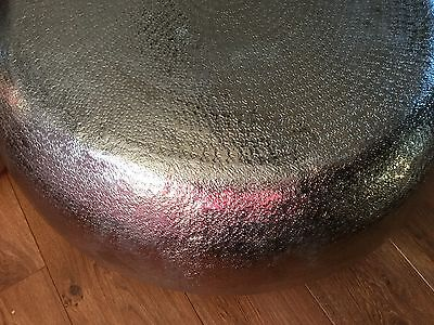 Fabulous Large Hammered Metal Moroccan Style Coffee Table