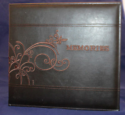 Pioneer 12 x 12 Scrapbooking Memories Album in Brown Leatherette,Embroidered Sti
