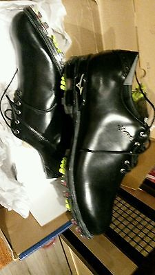 Mizuno MP Series Mens Black Leather Golf Shoes - Size 8.5. RRP £149