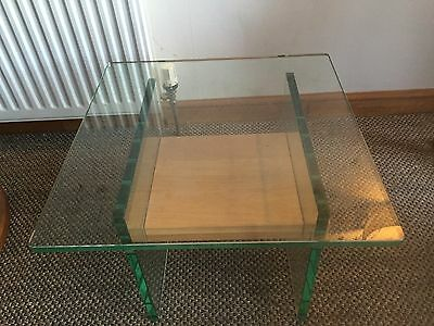 Jessica Glass And Oak Lamp Table