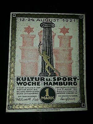 Kultur u. Sportwoche Hamburg 1 Mark * 31. August 1921 *