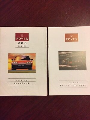 ROVER 200 series HANDBOOK + AUDIO GUIDE  years 1989    1994 in good condition