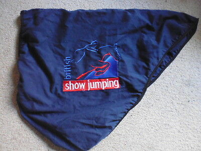 BSJA  British Showjumping Branded Cotton Saddle Cover navy full size