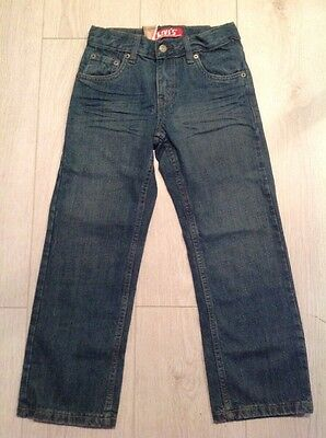 Levi Strauss & Co 549 Straight Jeans Blue Wash and Sized 7yrs