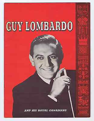 PD GUY LOMBARDO and his Royal Canadians - Vintage Tour Program 1950s
