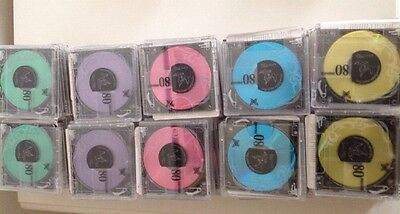 50 Used 80 Md Colour  Mini Discs With radio Content
