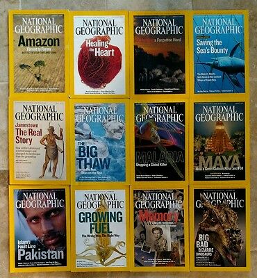 National Geographic Magazine - 2007  ALL 12 issues complete lot