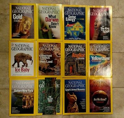 National Geographic Magazine - 2009  ALL 12 issues complete lot