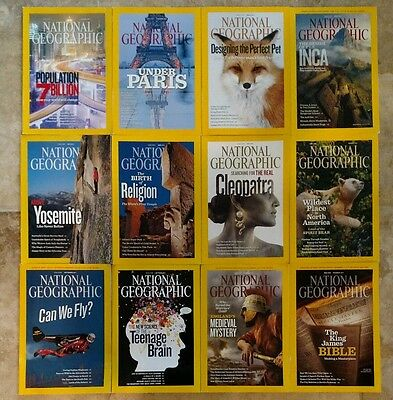 National Geographic Magazine - 2011  ALL 12 issues complete lot