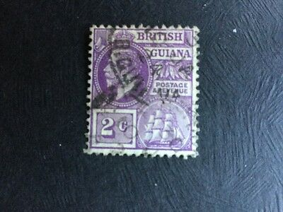 British Guiana Stamps Used Hinged 2cents