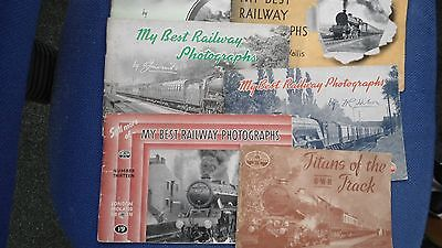 Collection of 6 Vintage Railway Photograph Books
