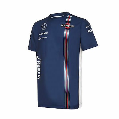 2016 OFFICIAL Williams Martini Racing F1 Team T-Shirt Blue/Large - NEW & Genuine