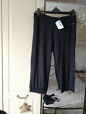 New Ladies Running/ Keep Fit Jogging Bottoms In Black Size 18